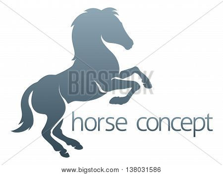 An abstract rearing rampant horse concept ILLUSTRATION