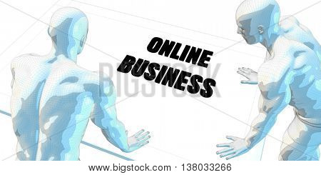 Online Business Discussion and Business Meeting Concept Art 3D Illustration Render