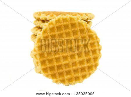 waffles  bakery, breakfast isolated on white background