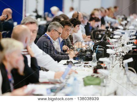 Press Center Of The Nato Summit In Warsaw