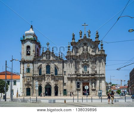 Igreja Dos Carmelitas And Carmo Church In Porto, Portugal.