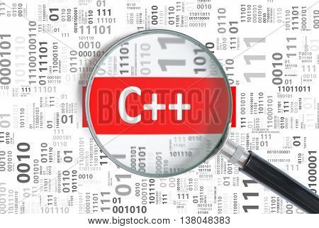 Software Development Concept. C++ (c Plus Plus) Programming Lang