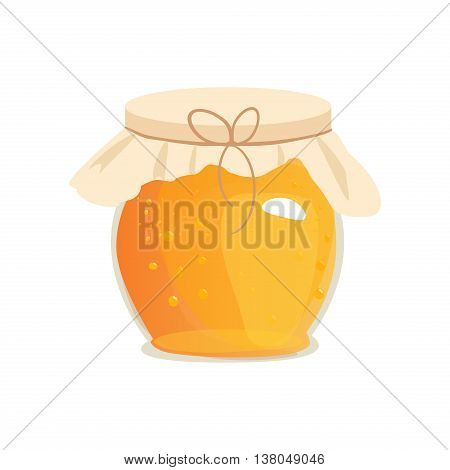 Honey jar vector. Apiary vector symbol. Bee honey honey bank honey pot comb. Honey natural healthy food production. Honey liquid bank isolated. Beehive and wax. Sticky ingredient dessert.