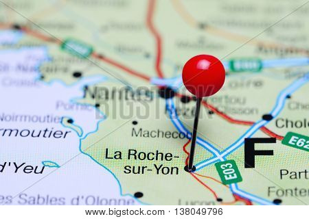 La Roche-sur-Yon pinned on a map of France