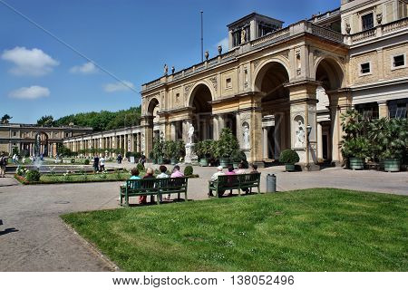 Resting Tourists In Sanssouci