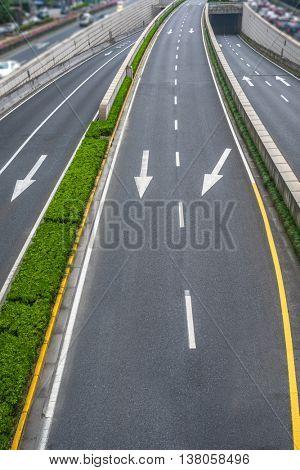 blurred car speeding on highway
