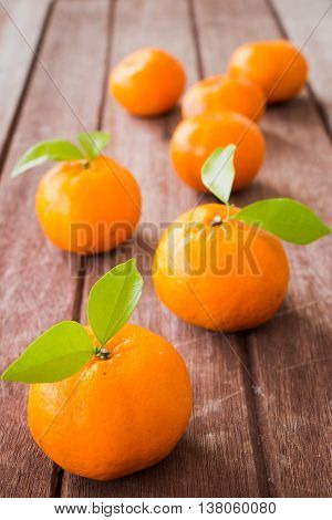 Fresh citrus fruits orange on wooden, Healthy food.
