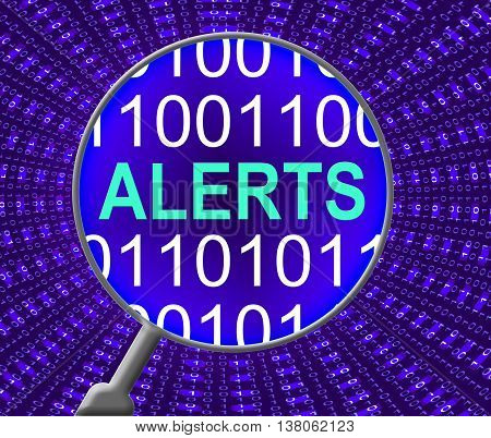 Internet Alerts Shows Web Site And Alarm