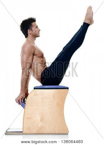 man fitness pilates exercices isolated