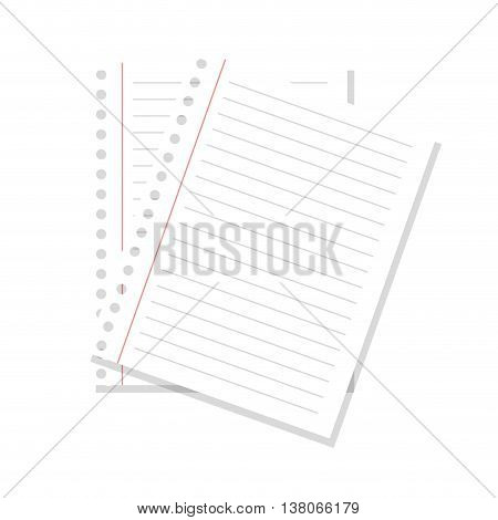 Paper, pager note isolated flat icon, vector illustration graphic design.