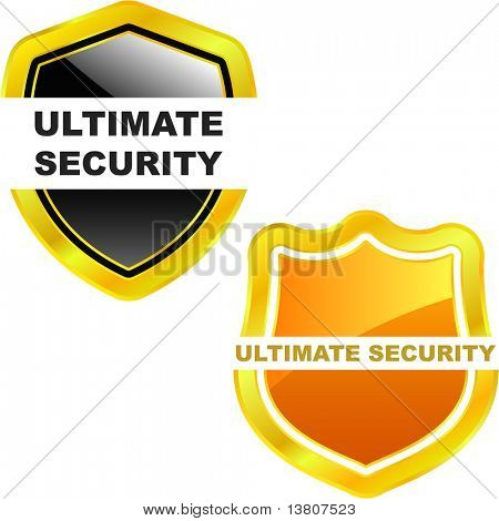 Ultimate secutity. Vector shields for design