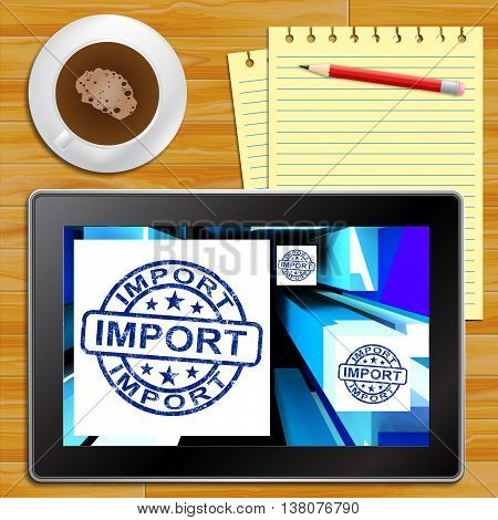 Import On Cubes Showing Importing Products Tablet