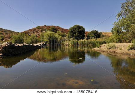 Old dam at Mission Trail, California, San Diego