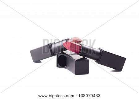 Two Stick Of lipstick Isolated on white background