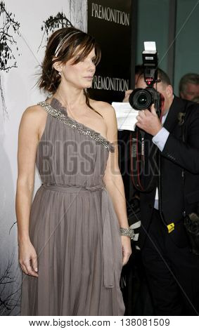 Sandra Bullock at the Los Angeles premiere of 'Premonition' held at the Cinerama Dome in Hollywood, USA on March 12, 2007.
