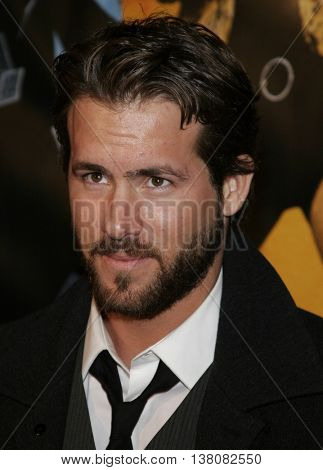 Ryan Reynolds at the Los Angeles premiere of 'Smokin' Aces' held at the Grauman's Chinese Theatre in Hollywood, USA on January 18, 2007.