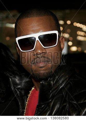 Kanye West at the Los Angeles premiere of 'Smokin' Aces' held at the Grauman's Chinese Theatre in Hollywood, USA on January 18, 2007.