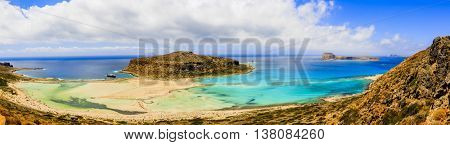 Balos Lagoon and Gramvousa island on Crete, Greece