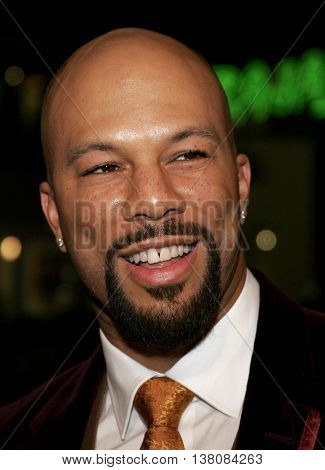 Common at the Los Angeles premiere of 'Smokin' Aces' held at the Grauman's Chinese Theatre in Hollywood, USA on January 18, 2007.