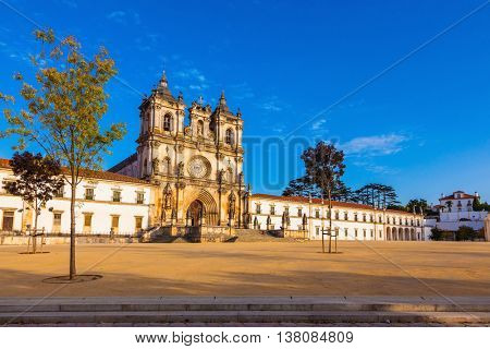 Cistercian monastery in the small Portuguese town of Alcobaca.