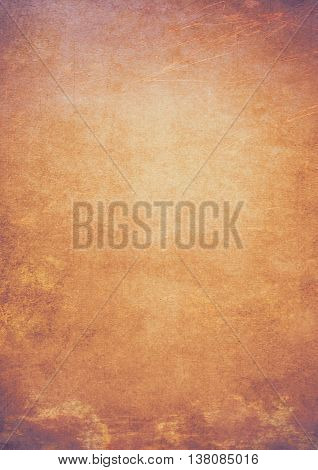 Bronze And Golden Gradient Grunge Effect Textured Background