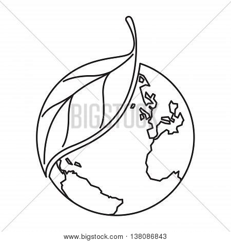 clip art drawn plant and earth on white background