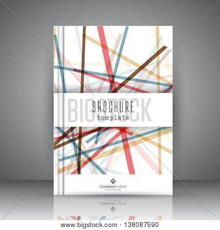 Corporate brochure template with an abstract design