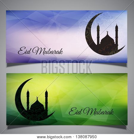 Collection of two background headers for Eid