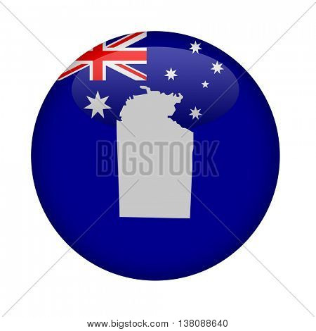 Australia Northern territory map button on a white background.