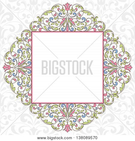 Floral pattern for invitation or greeting card.