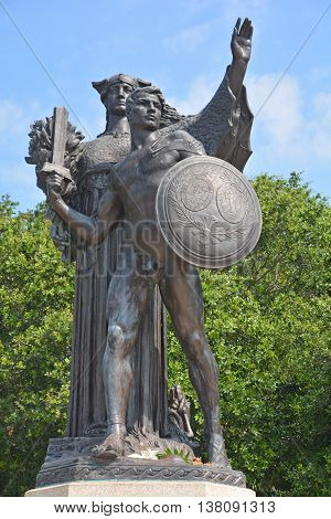 CHARLESTON SC USA 06 24 2016: Confederacy monument