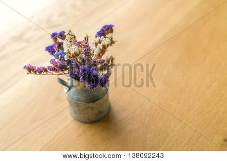 Bunch of beautiful flowers on table