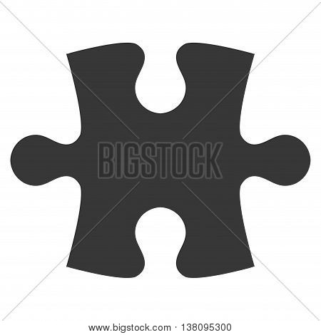 flat design puzzle piece icon vector illustration silhouette