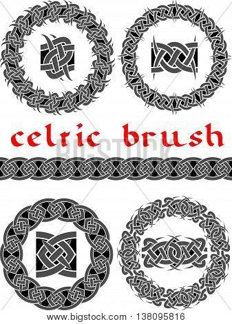 celtic brush for frame and design seamless vector