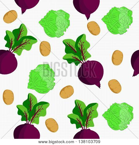 Seamless depicting three vegetables. It can be used for decoration kitchen accessories tablecloths fabrics cutting boards or other