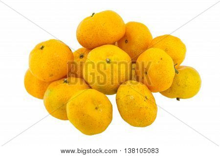 Orange fruit isolated on white a background