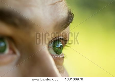 Male Eye With Dotty Lens