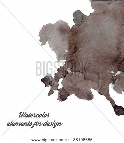 Vector grunge black paint abstract for textures and backgrounds