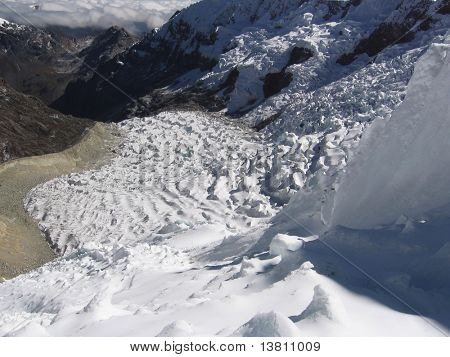 Bid glacier on the Alpamayo mountain