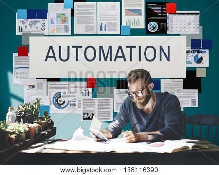 Automation Production System Operation Precess Concept