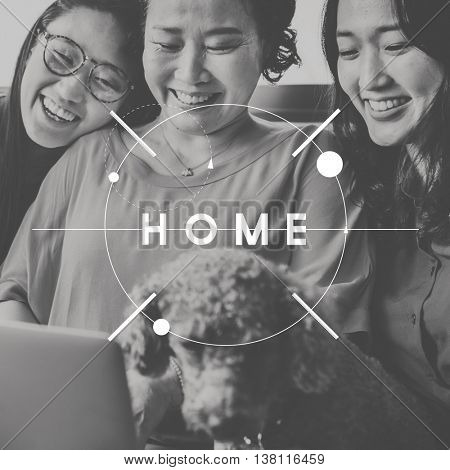Home Sweet Home Happiness People Graphic Concept