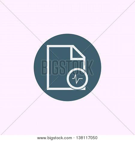 File Pulse Icon In Vector Format. Premium Quality File Pulse Symbol. Web Graphic File Pulse Sign On