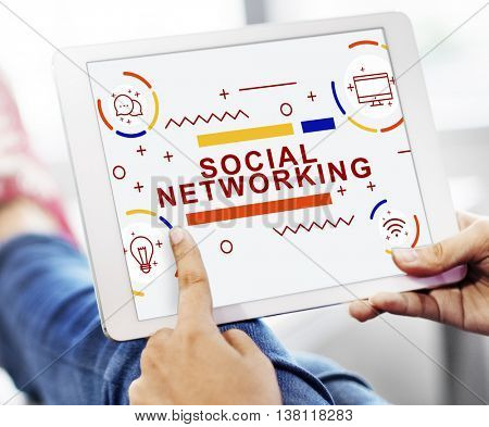 Social Networking Connection Online Sharing Concept
