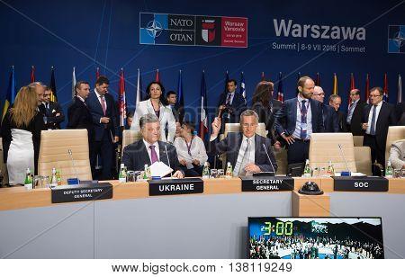 Jens Stoltenberg And Petro Poroshenko