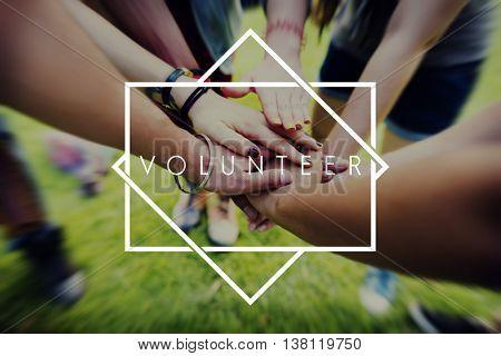 Volunteer Aid Charity Support Volunteering Concept