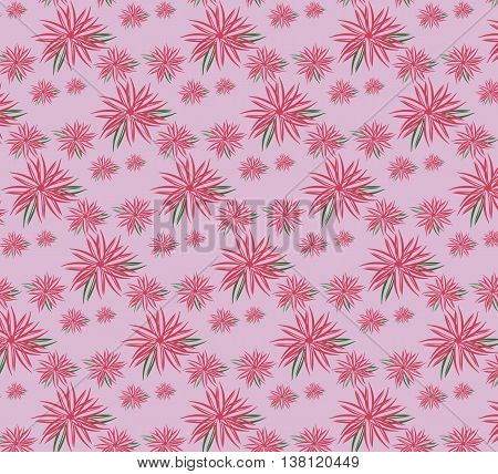 Spring summer ornament pattern background. Floral blossom fusion season textile fabric