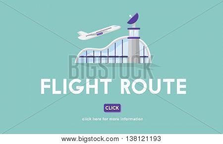 Flight Route Business Trip Flights Travel Concept