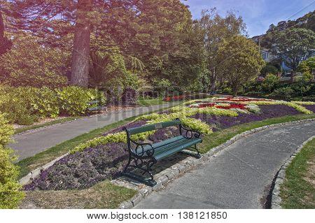 Wellington, New Zealand - March 2, 2016: Wellington Botanic Garden, The Largest Public Park In Capit