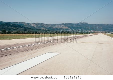 Runway on Split airport by Njord Studio.