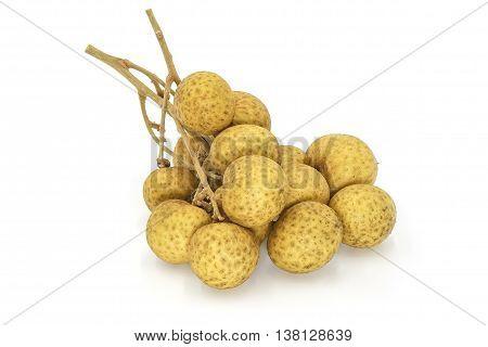 Fresh longan (dimocarpus longan), isolated on white background